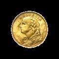 Moneda de oro 20 Francos Suizos de año aleatorio