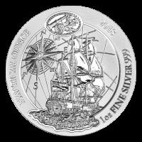Moneda de Plata HMS Endeavour Ruanda Náutica 2018 de 1 oz