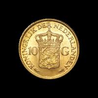 Moneda de Oro 10 Florines Holandeses Año Aleatorio