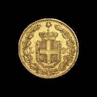 Moneda de Oro 20 Liras Italianas Año Aleatorio