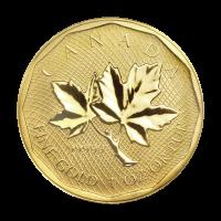 Moneda de Oro 99999 de la Casa de la Moneda Real Canadiense 2008 de 1 oz