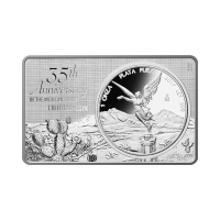 Barra de Plata del 35° Aniversario de la Moneda Libertad Mexicana 2017 de 3 oz