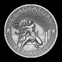 Moneda de Plata Reciario 2017 de 2 onzas | Los Gladiadores