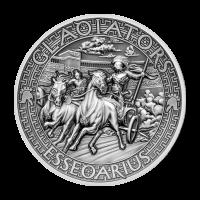 Moneda de Plata Essedarius 2017 de 2 onzas | Los Gladiadores