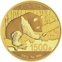 100 gram 2016 Chinese Panda Gold Proof Coin   Spotted