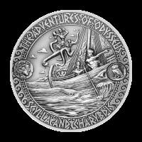 Aventuras de Odiseo | Moneda de Plata Estrecho de Escila y Caribdis 2018 de 2 onzas