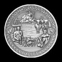 Aventuras de Odiseo | Moneda de Plata Ganado de Helios 2018 de 2 onzas