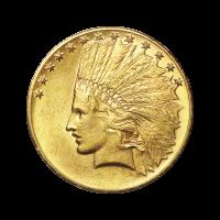 Moneda de Oro Águila India $10 Año Aleatorio