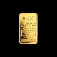 2.5 gram Johnson Matthey Vintage Gold Bar
