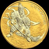 1 oz 2017 Zi Sin Gallus Gold Round