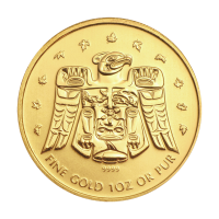 1 oz 2009 Vancouver Olympics Thunderbird Totem Gold Coin