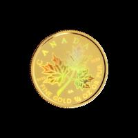 1/4 oz 2001 Canadian Maple Leaf Hologram Gold Coin
