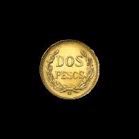 Random Year Mexican 2 Peso Gold Coin