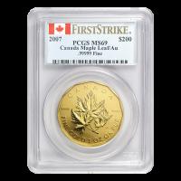 1 oz Goldmünze Royal Canadian Mint 99999 PCGS Erstabschlag MS 69 2007