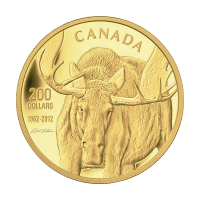 1 oz 2012 $200 Canadian Moose Gold Coin