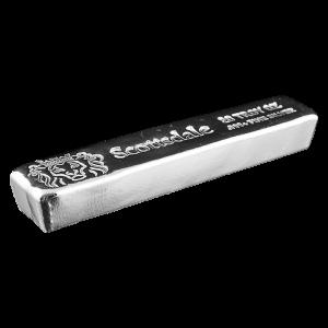 20 oz Scottsdale Mint Cast Silver Bar
