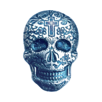 2 oz Monarch Precious Metals Hand Poured Cross Silver Skull