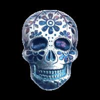 2 oz Monarch Precious Metals Hand Poured Marigold Silver Skull