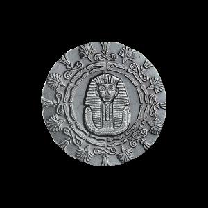 1/4 oz Monarch Precious Metals Egyptian King Tut and Pyramid Silver Round