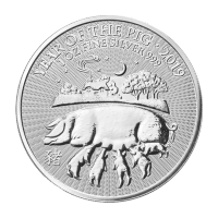 1 oz 2019 The Royal Mint Lunar Year of the Pig Silver Coin
