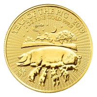 1 oz 2019 The Royal Mint Lunar Year of the Pig Gold Coin