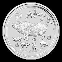 1 oz 2019 Perth Mint Lunar Year of the Pig Silver Coin