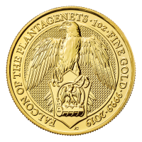 1 oz 2019 Royal Mint Queen's Beasts | Falcon of the Plantagenets Gold Coin