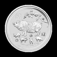 1/2 oz 2019 Perth Mint Lunar Year of the Pig Silver Coin
