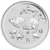 1 kg | kilo 2019 Perth Mint Lunar Year of the Pig Silver Coin