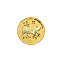 1/10 oz 2019 Perth Mint Lunar Year of the Pig Gold Coin