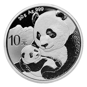 30 gram 2019 Chinese Panda Sølvmynt