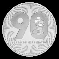1 oz 2018 Disney Mickey Mouse | 90-Årsjubileum Sølvmynt