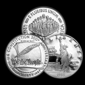 Dólar de plata conmemorativo EE. UU. $1 de año aleatorio