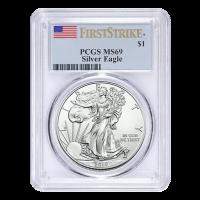 1 oz Random Year PCGS MS-69 American Eagle Silver Coin