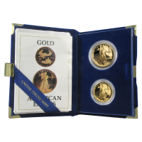 Set of 2 Random Year American Eagle Proof Gold Coins