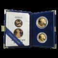 Set de 2 Monedas de oro a prueba Águila Americana de año aleatorio