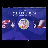 1 oz Random Year Colorized American Eagle Silver Coin