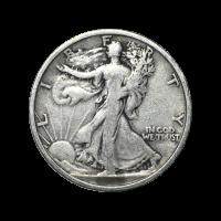 Random Year Walking Liberty Half Dollar 90% Pure Circulation Silver Coin