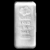 1 kg   kilo PAMP Suisse Silver Bar