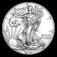 1 oz Silbermünze - amerikanischer Adler - 2020