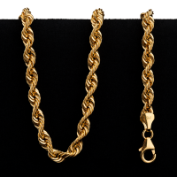 18.3 gram 22 kt Twisted Rope Style Gold Necklace