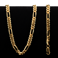 50.5 gram 22 kt Rounded Figarucci Style Gold Necklace