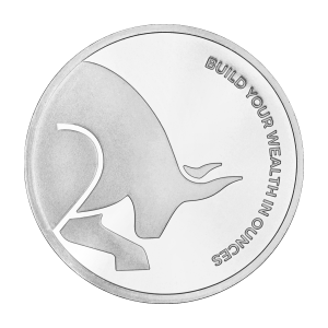 1 oz Silver Gold Bull Silver Round
