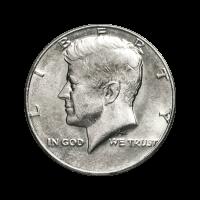 Random Year U.S. Base Metal Circulation Half Dollar Coin
