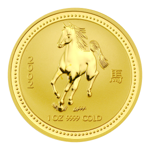 1 oz 2002 Lunar Year of the Horse Perth Mint Gold Coin