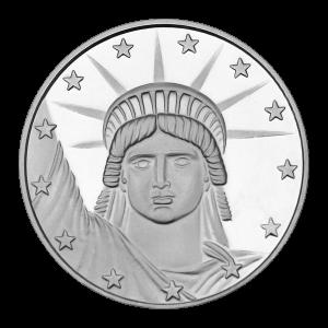 1 oz Silvertowne Lady Liberty Silver Round