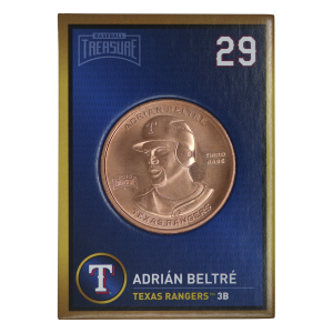 1 oz 2018 Baseball Treasure MLB Kobber Round