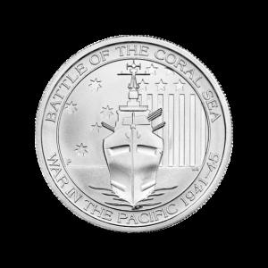 1/2 oz Silbermünze - Schlacht im Korallenmeer Zufallsjahr