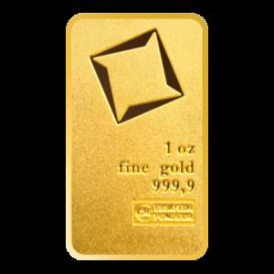 1 oz Valcambi Matte Finish Gold Bar