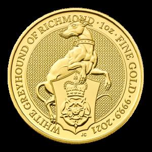 1 oz 2021 Royal Mint Queen's Beasts | White Greyhound of Richmond Gullmynt
